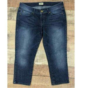 Dark Wash Denim Capri Jeans Perfect Calf Stretchy
